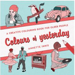 Colours of yesterday colouring book